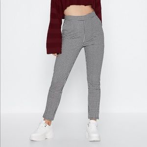Nasty Gal Pants & Jumpsuits - Nasty Gal Make It Fair Gingham Pants XS